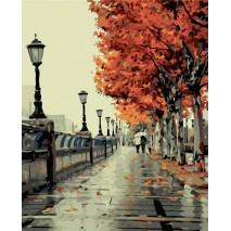 Festés számok szerint 40x50 cm őszi sétány