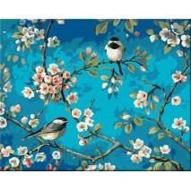 Két ülő madár Festés számok szerint
