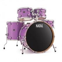 NATAL Shellset, Maple, US Fusion X, 5-parts, Violet Sparkle dobfelszerelés