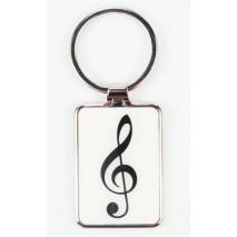 Violinkulcsos fém kulcstartó