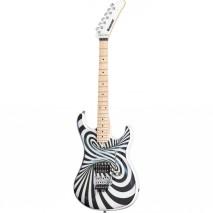 Kramer The 84 3D Black White Swirl elektromos gitár