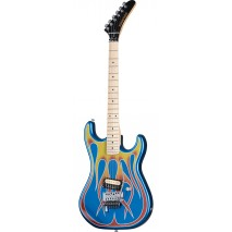 Kramer Baretta Blue Sparkle with Flames elektromos gitár