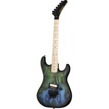 Kramer Baretta Snakeskin Green Blue Fade elektromos gitár