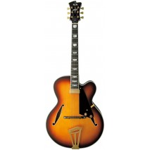 FGN Masterfield Jazz FP Jazz Burst Low Gloss elektromos gitár