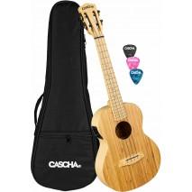 Cascha HH 2314E Bamboo elektroakusztikus tenor ukulele
